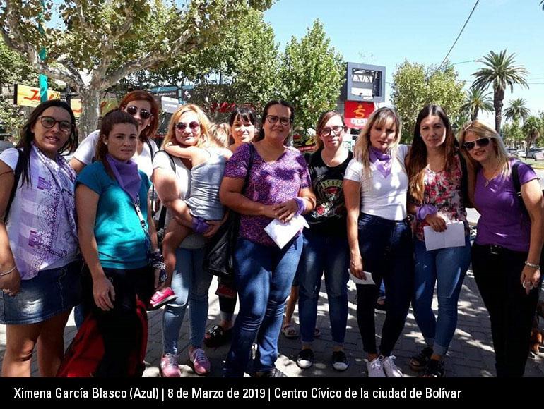 Las Trabajadoras Sociales nos reunimos en el día de la mujer a decir Ni Una Menos.